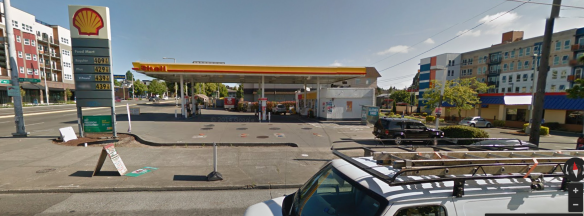 The site is currently occupied by the Shell Station, Burger King and a 2 story office building