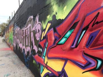 sanctioned street art in Williamsburg, Brooklyn